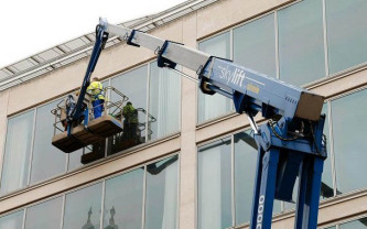 cherry picker window cleaning